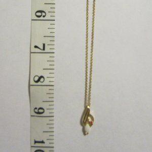VINTAGE Girls' Opal/ruby Necklace